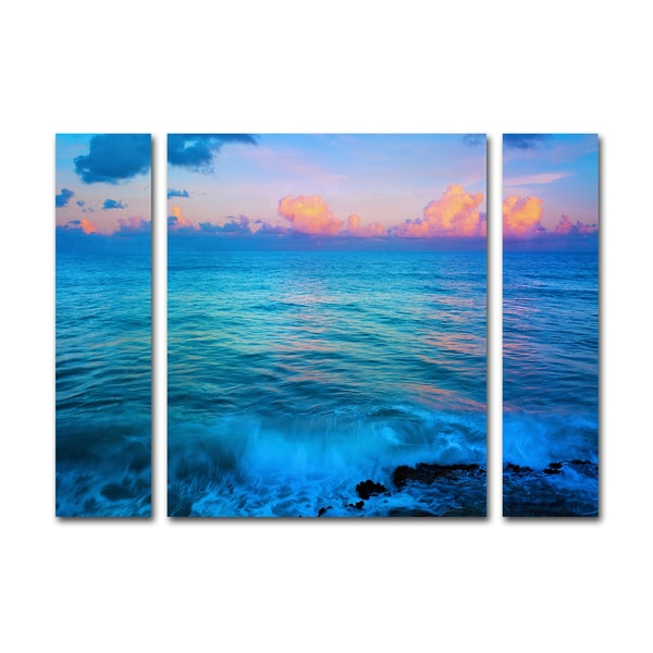 Preston 'St. Marten's Sunset' Three Panel Set Canvas Wall Art