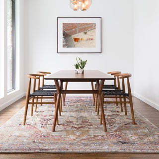 Link to Alexander Home Contessa Traditional Medallion Boho Distressed Rug Similar Items in Farmhouse Rugs