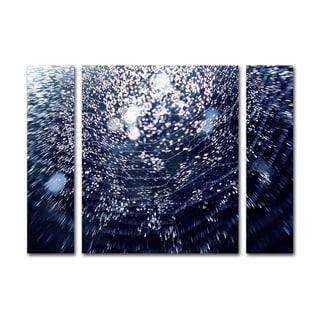 Beata Czyzowska Young '50 Shapes' Three Panel Set Canvas Wall Art
