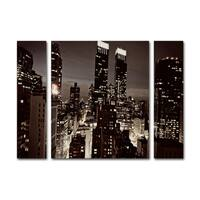 Ariane Moshayedi 'NYC After Dark' Three Panel Set Canvas Wall Art