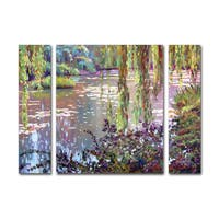 David Lloyd Glover 'Homage to Monet' Three Panel Set Canvas Wall Art