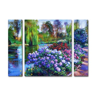 David Lloyd Glover 'Promise of Spring' Three Panel Set Canvas Wall Art
