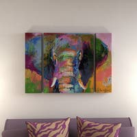 The Curated Nomad Richard Wallich 'Elephant 2' Three Panel Set Canvas Wall Art
