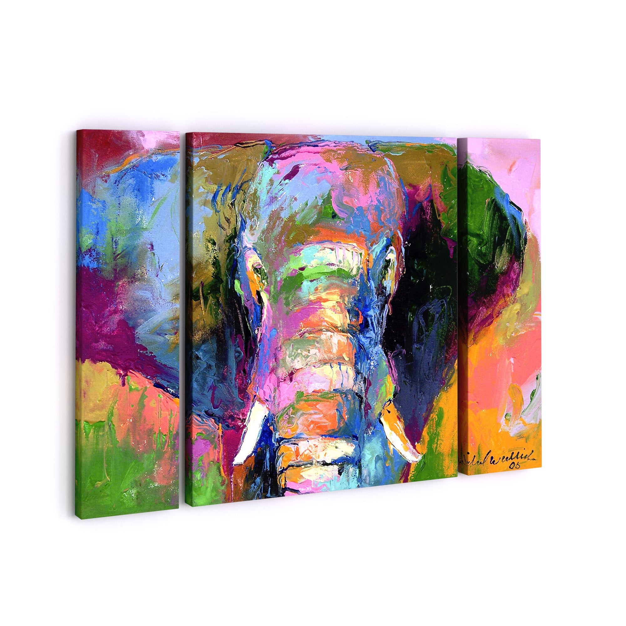 The Curated Nomad Richard Wallich Elephant 2 Three Panel Set Canvas Wall Art Overstock 18053562