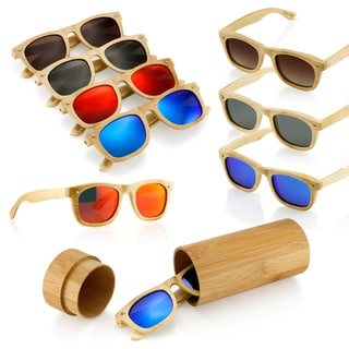 Gearonic Fashion Wooden Bamboo Vintage Sunglasses Eyewear
