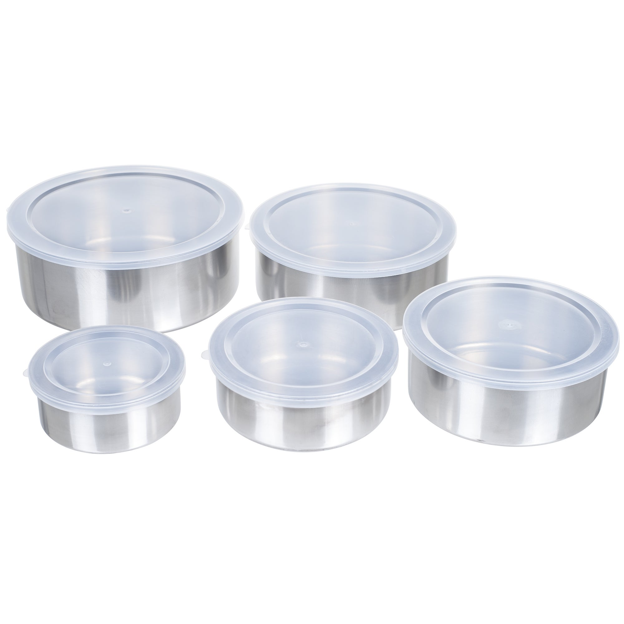 Chef Buddy 5 Piece Stainless Steel Bowl Set with Lids (5 ...