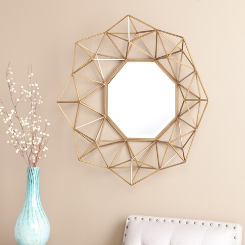 Silver Orchid Grant Gold Decorative Mirror - A/N
