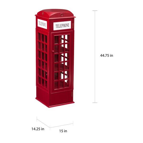 Cool Shop Harper Blvd Red Phone Booth Media Storage Cabinet On Download Free Architecture Designs Scobabritishbridgeorg
