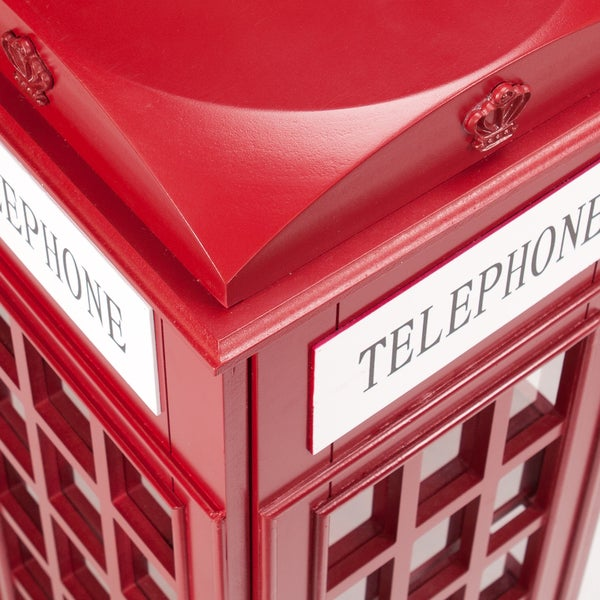 Harper Blvd Red Phone Booth Media Storage Cabinet - Free Shipping ...