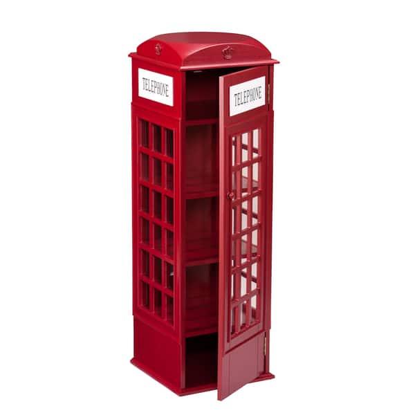 Sensational Shop Harper Blvd Red Phone Booth Media Storage Cabinet On Download Free Architecture Designs Scobabritishbridgeorg