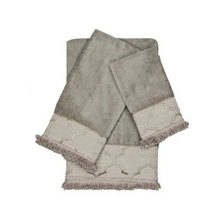 Austin Horn En'Vogue Ascot Grey Loop 3-piece Decorative Embellished Towel Set