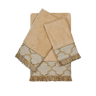 Austin Horn En'Vogue Ascot Gold 3-piece Decorative Embellished Towel Set