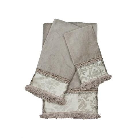 Sherry Kline Westminster Grey 3-piece Decorative Embellished Towel Set