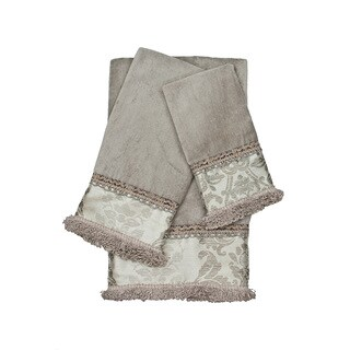 Sherry Kline Westminster Grey 3-piece Decorative Embellished Towel Set