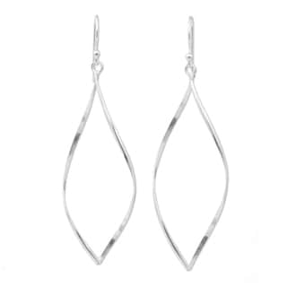 Handcrafted Sterling Silver 'Curvature' Earrings (Thailand)