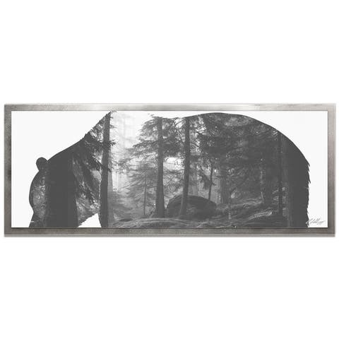Adam Schwoeppe 'Grizzly Bear Forest' Contemporary Metal Animal Silhouette Art