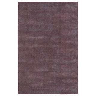 Solid Chic Red and Dark Grey Hand-Tufted Rug (9'0 x 12'0)