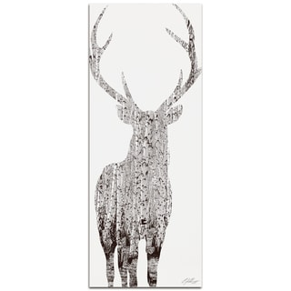 Adam Schwoeppe 'Birch Deer' Metal Art Print