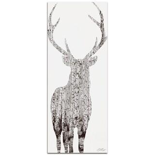 Adam Schwoeppe 'Birch Deer' Metal Art Print