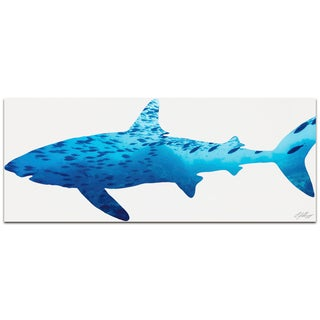 Adam Schwoeppe 'Shark Seascape' Contemporary Metal Animal Silhouette Art
