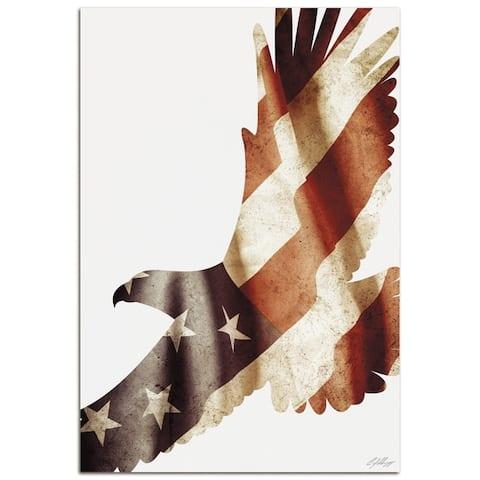 Adam Schwoeppe 'Freedom Eagle' Contemporary Metal American Flag Art