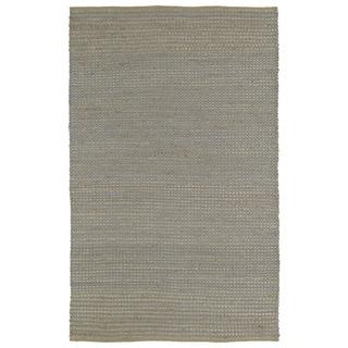 "Handmade Slate Wool & Jute Frisco Rug (21"" x 34"")"