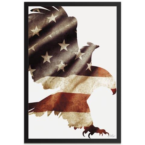 Adam Schwoeppe 'Patriot Eagle' Contemporary Metal American Flag Art