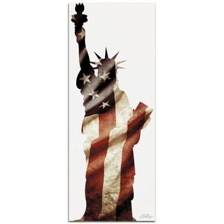 Adam Schwoeppe 'Lady Liberty' Contemporary Metal Patriotic Art