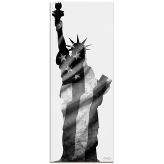 Adam Schwoeppe 'Lady Liberty Black & White' Contemporary Metal Patriotic Art