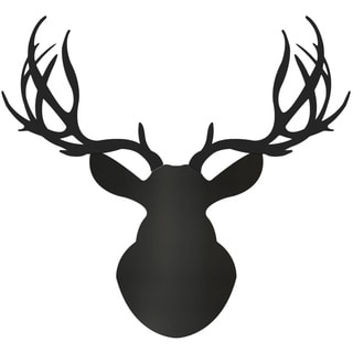 Adam Schwoeppe 'Midnight Buck' Large Black Deer Silhouette Art Wall Sculpture
