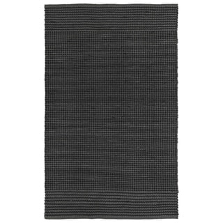 Handmade Charcoal Wool & Jute Frisco Rug (5'0 x 7'6)