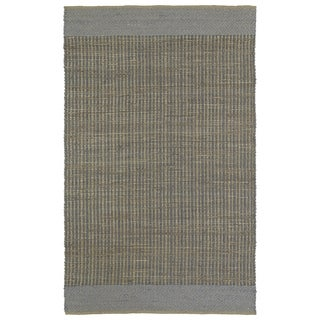 Handmade Slate Wool & Jute Border Frisco Rug (3'0 x 5'0)