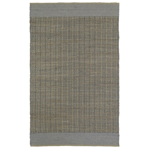 Handmade Slate Wool & Jute Border Frisco Rug - 8' x 10'