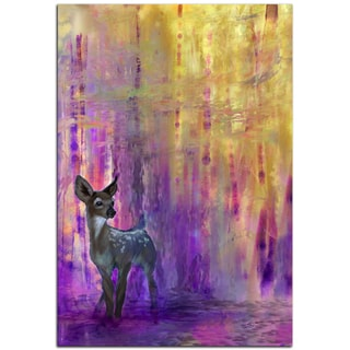 Ben Judd 'Urban Fawn' Colorful Contemporary Deer Art on Metal