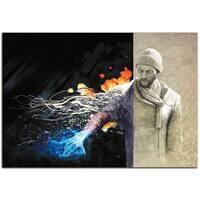 Ben Judd 'Ben Evolving' Urban Man Science Fiction Art on Metal