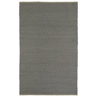 Handmade Slate Wool & Jute Diamonds Frisco Rug (3'0 x 5'0)