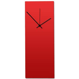 Metal Art Studio 'Redout Black Clock' Minimalist Red & Black Contemporary Wall Clock