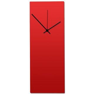 Metal Art Studio 'Redout Black Clock' Minimalist Red & Black Contemporary Wall Clock