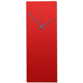 Metal Art Studio 'Redout Blue Clock' Minimalist Red & Blue Contemporary Wall Clock