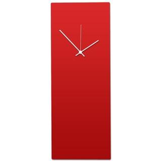 Metal Art Studio 'Redout White Clock - Large' Minimalist Red & White Modern Wall Clock