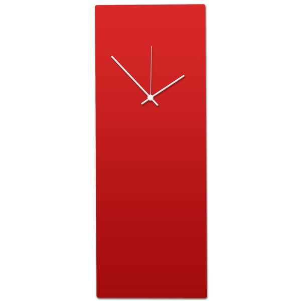 Metal Art Studio 'Redout White Clock - Large' Minimalist Red & White Modern Wall Clock