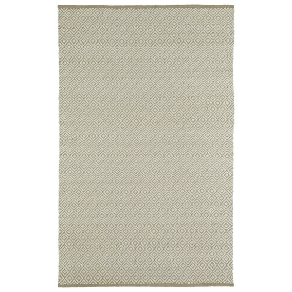 Handmade Camel Wool & Jute Diamonds Frisco Rug - 8' x 10'