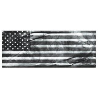 Metal Art Studio 'American Glory Black & White' Modern Patriotic Metal Wall Art