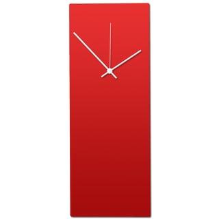 Metal Art Studio 'Redout White Clock' Minimalist Red & White Contemporary Wall Clock