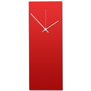 Metal Art Studio 'Redout White Clock' Minimalist Red & White Contemporary Wall Clock