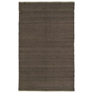 "Handmade Chocolate Wool & Jute Frisco Rug (21"" x 34"")"
