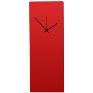 Metal Art Studio 'Redout Black Clock - Large' Minimalist Red & Black Modern Wall Clock