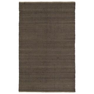 Handmade Chocolate Wool & Jute Frisco Rug  (5'0 x 7'6)