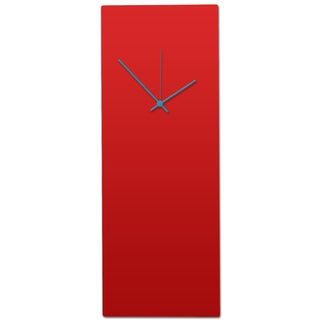 Metal Art Studio 'Redout Blue Clock - Large' Minimalist Red & Blue Modern Wall Clock