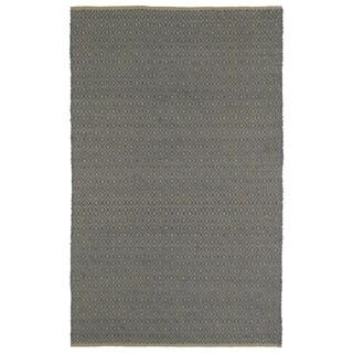 Handmade Slate Wool & Jute Diamonds Frisco Rug (5'0 x 7'6)
